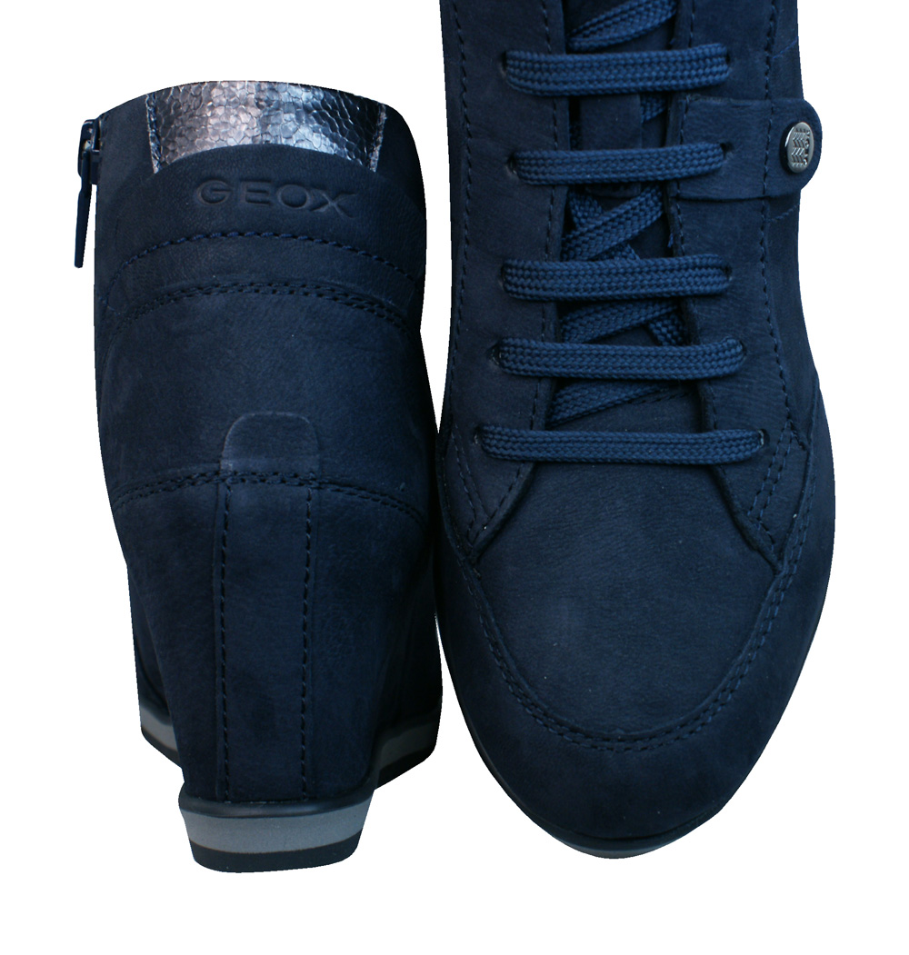bc9d877d20b Geox D Illusion A Womens Wedge Trainers   Boots - navy Blue at ...