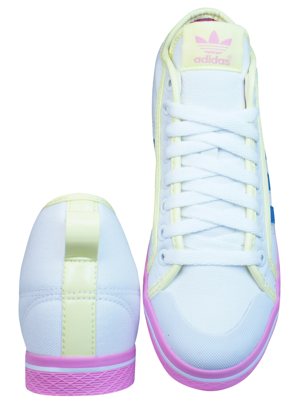 adidas Honey Stripes Up Womens High Top Trainers - Shoes - White at ... cb3bd021f