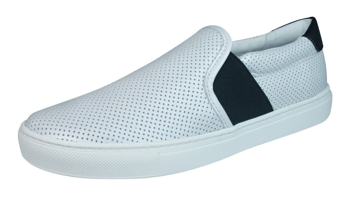 1d050d2fbb Geox D Trysure B Womens Leather Slip On Trainers / Shoes - White at ...
