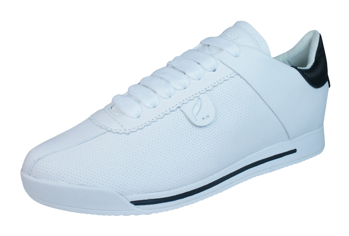 Geox D Chewa A Womens Leather Trainers  Shoes - White At -3292