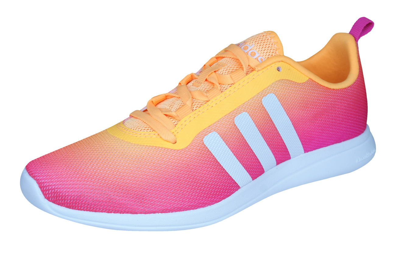 c36fd13b9fe58 adidas Neo Cloudfoam Pure Womens Running Trainers   Shoes - Pink at ...