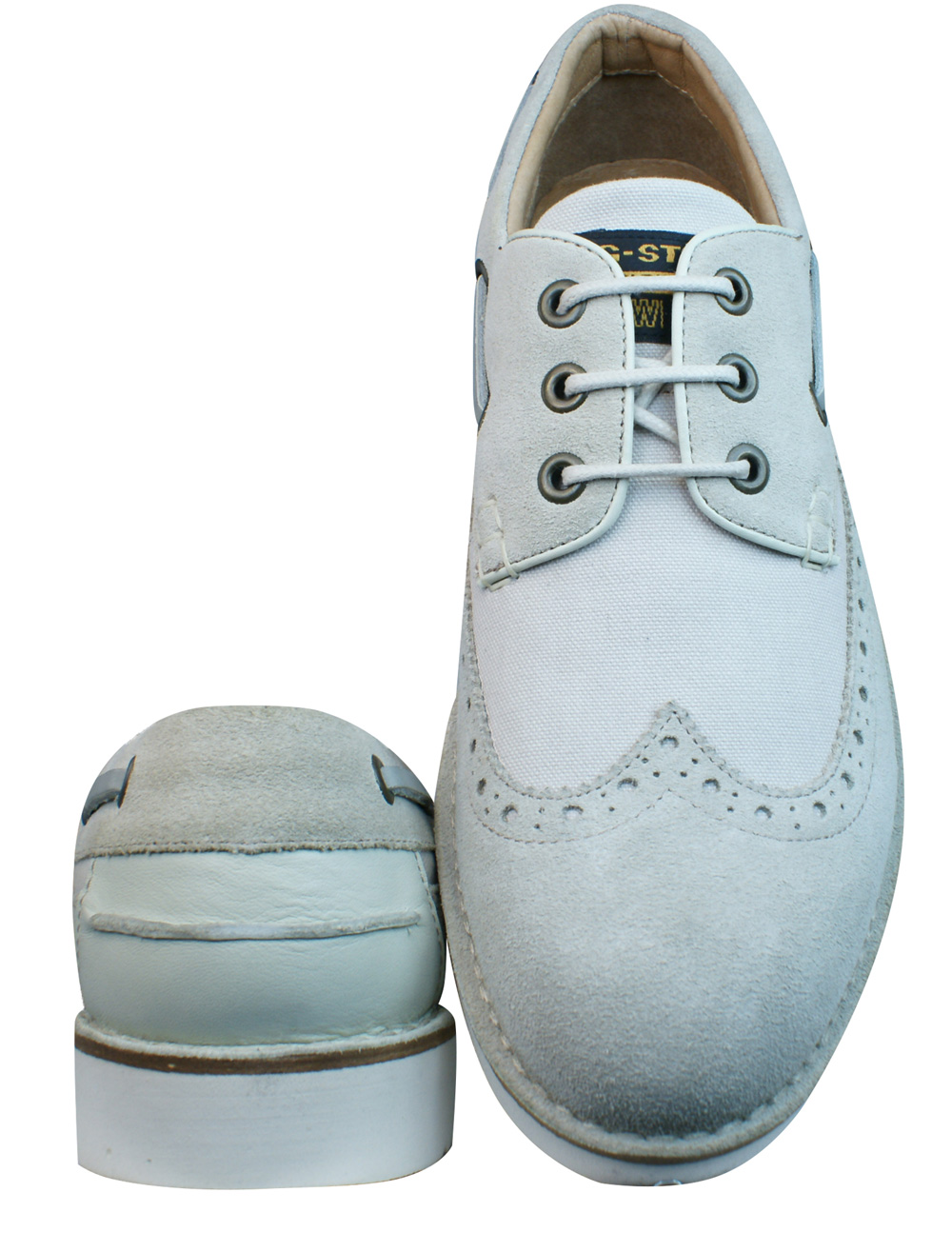 G-Star Garret II Rothko Mix Mens Suede Shoes - Off White ...