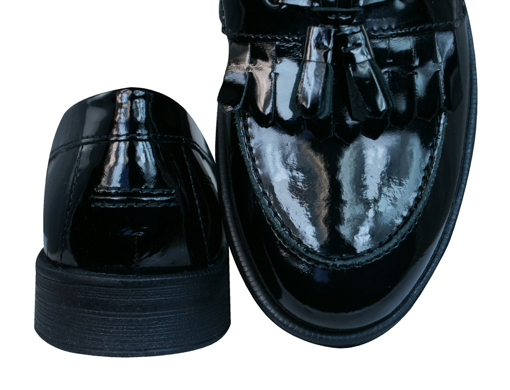 geox j agata a patent leather slip on shoes black