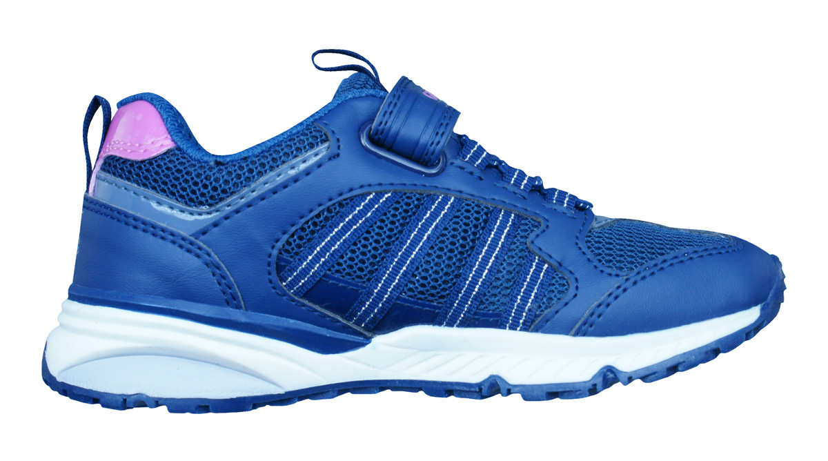 Geox J Bernie G.A Girls Trainers / Shoes - Navy at ...