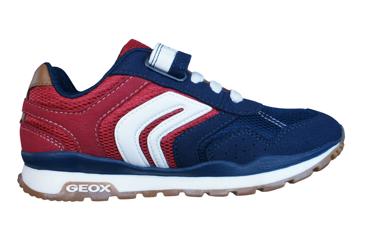 1010f32f1 Geox J Pavel B Boys Trainers / Shoes - Navy Blue and Red at ...