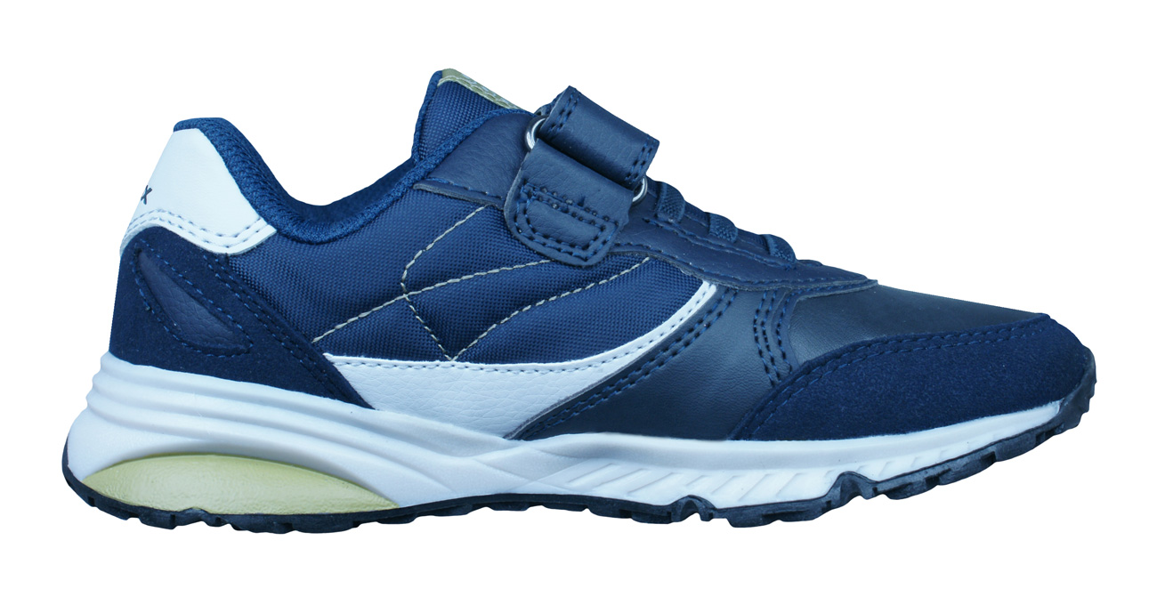 Geox J Bernie A Boys Trainers / Shoes - Navy Blue at ...