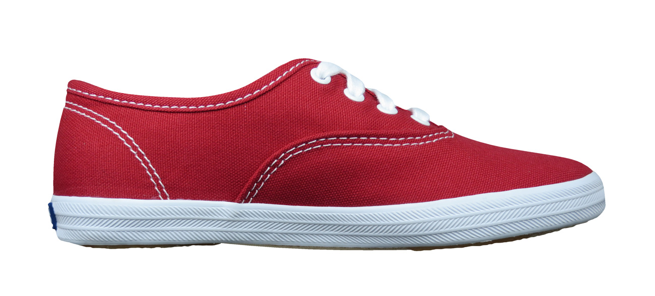 64bea780e7ed51 Keds Original Champion CVO Girls Lace Up Trainers   Shoes - Red at ...