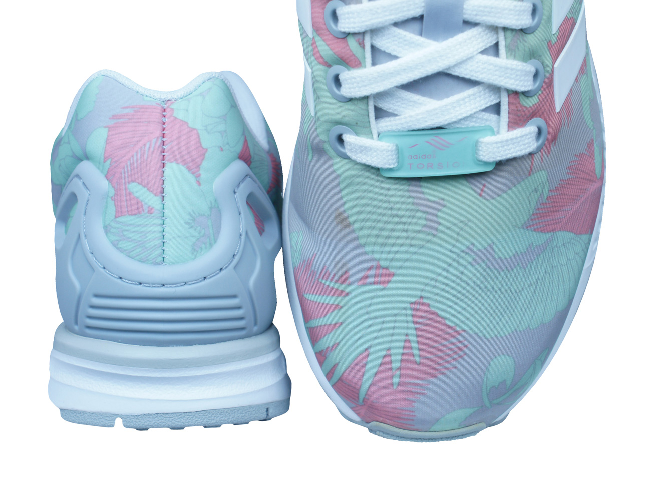 cheap for discount 709b9 d6512 adidas Originals ZX Flux Womens Trainers / Shoes - Floral ...