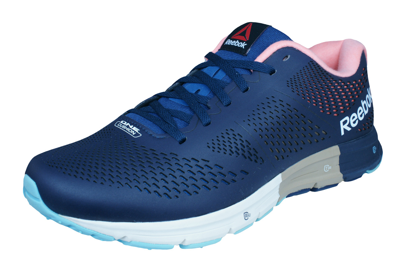 c96ab87cb88db0 Reebok One Cushion 2.0 Lux Mens Running Trainers   Shoes - Blue at ...