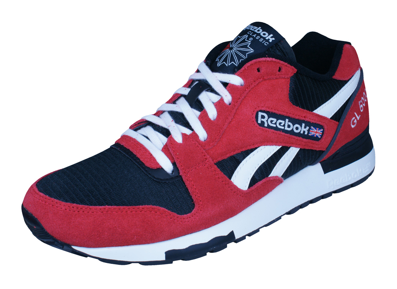 fec71649aa35 Reebok Classic GL 6000 Athletic Mens Trainers   Shoes - Red and Black