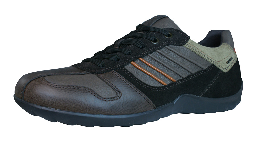geox u pavel a pull up mens leather trainers shoes