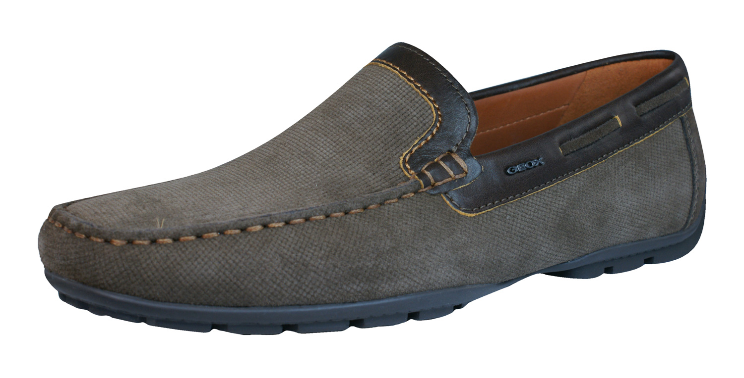 Geox Shoes U Monet A Mens Leather Moccasins Cigar At