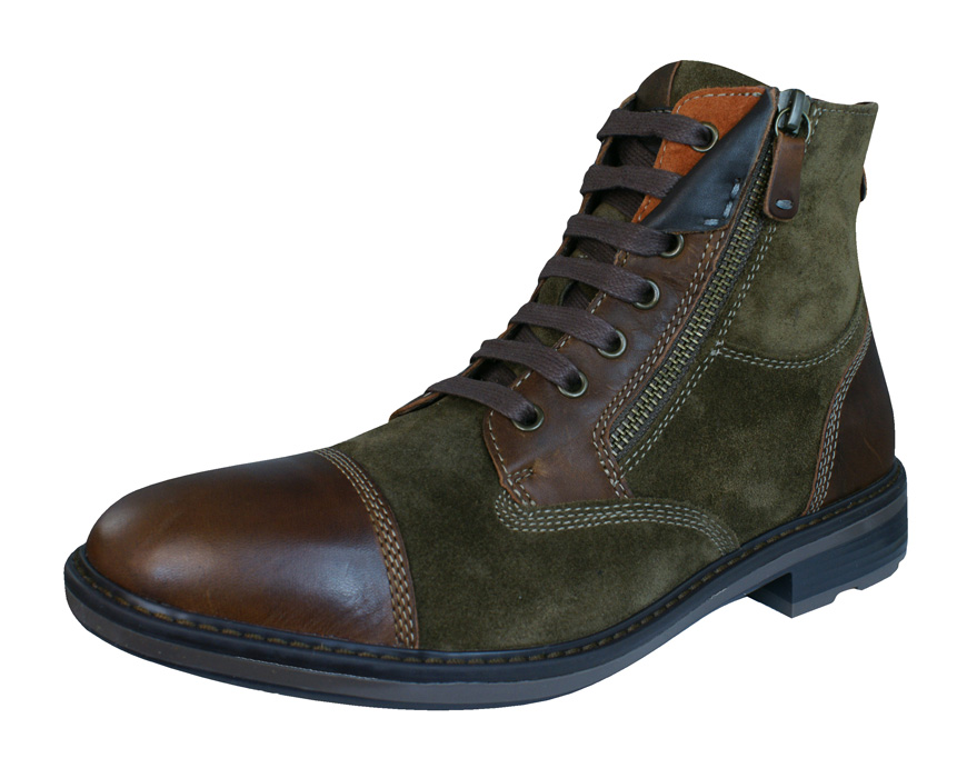 Geox U Rickmove A Mens Leather Ankle Boots Shoes Brown