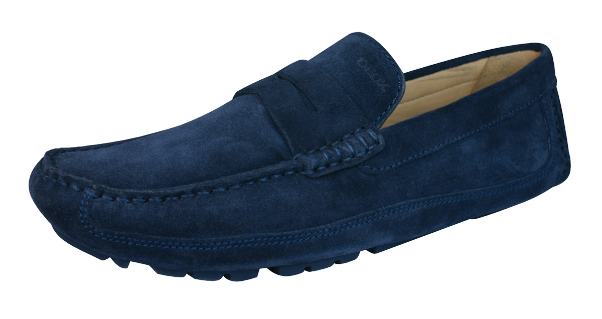 Geox U Melbourne A Mens Suede Moccasins / Shoes - Navy at ...