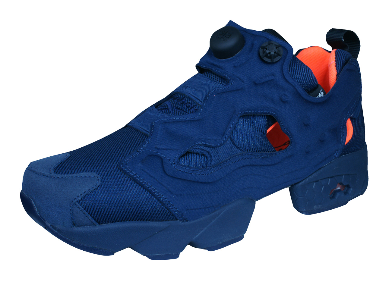 f9ad585c8cfa ... Reebok Instapump Fury Tech Mens Trainers Shoes - Navy Blue ...