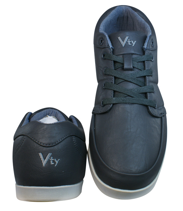 Victory Vty Mens Casual Trainers Shoes Dark Grey