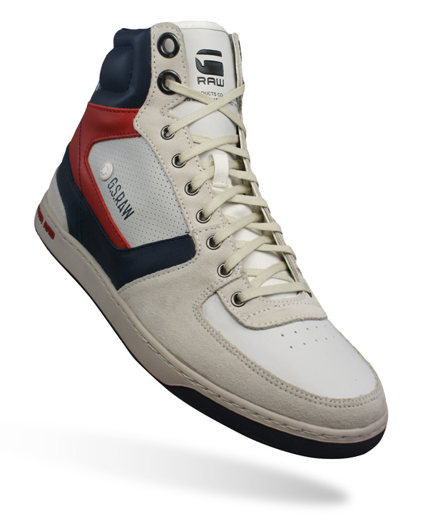 G-Star Raw Pitcher Rhodes Hi Mens Leather Trainers / Shoes ...