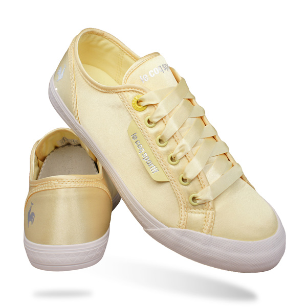 Norway Le Coq Sportif Womens Shoes - Products Le Coq Sportif Deauville Plus Satin Womens Trainers Shoes Yellow